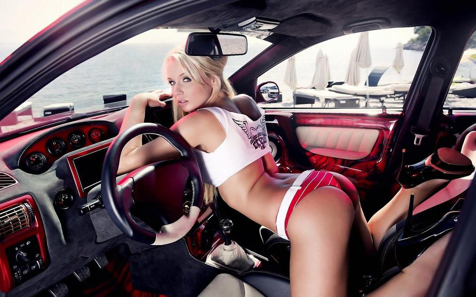 nice trucks with hot naked chicks