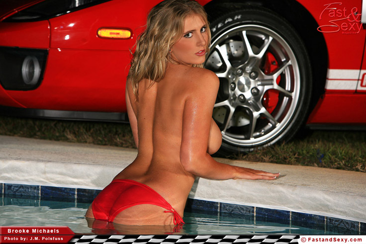naked sexy woman and fast cars